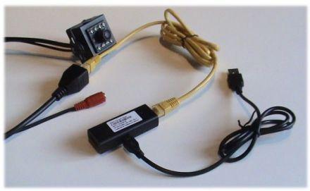 Подключение мини IP камеры к переходнику